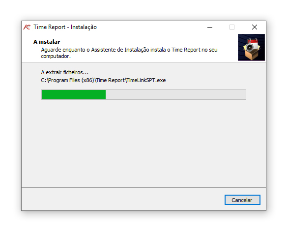 instalar o software time report 5