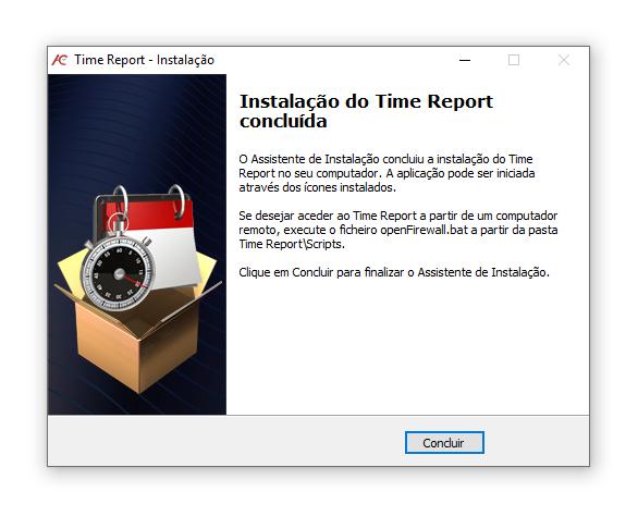 instalar o software time report 5