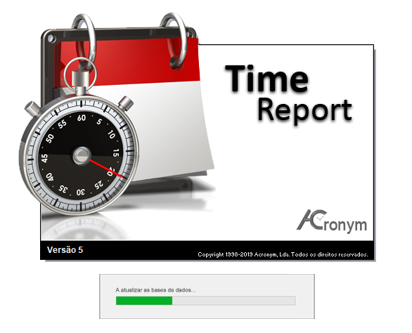 abrir o software time report 5