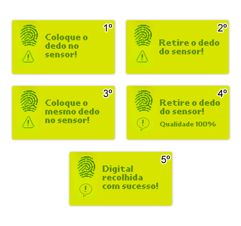 registar impressão digital